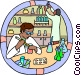 Healthcare, medical, lab technicians Vector Clipart picture