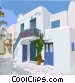 Mediterranean landscape Vector Clip Art graphic