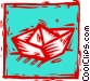 paper boat Vector Clip Art image