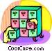 filing cabinets Vector Clipart image