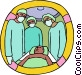 physicians with patient Vector Clipart image