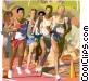 Athletes running, sports Vector Clip Art graphic
