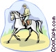 dressage Vector Clipart illustration