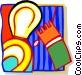 hand flushing Vector Clip Art image