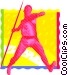 javelin throw Vector Clipart picture