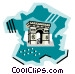 Geotechnical style, France Vector Clipart illustration
