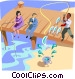 one lucky fisherman catches his limit Vector Clipart graphic