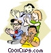 Audience Clapping Vector Clipart picture