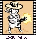 Western Movie Vector Clip Art graphic