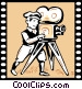 Film Maker Vector Clipart picture