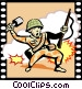 War Movie Vector Clipart illustration