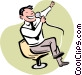 Karaoke Singer Vector Clipart graphic