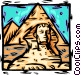 Egypt Sphinx/pyramids Vector Clip Art image