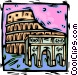 Rome coliseum Vector Clipart graphic