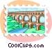 Roman aqueduct Vector Clipart picture