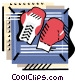 Boxing gloves Vector Clipart picture
