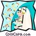 Couple getting married Vector Clip Art image