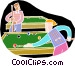 People playing pool Vector Clipart image