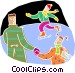 Ice skating Vector Clip Art image