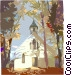 Traditional Church Vector Clipart graphic