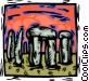 Stonehenge Vector Clip Art image
