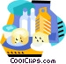 Dairy products Vector Clip Art graphic