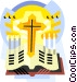 Religious items Vector Clip Art graphic