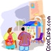Touring around town Vector Clipart image