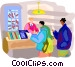 Tourist at information center Vector Clip Art picture