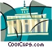 U.S. Courthouse symbol Vector Clipart illustration