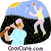 Baseball game Vector Clipart illustration