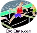 Running hurtles Vector Clipart graphic