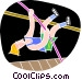 Pole vaulting Vector Clip Art image