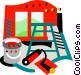 Painting equipment Vector Clipart graphic