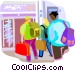 Airline passenger terminal Vector Clipart illustration