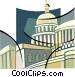 Capitol Building symbol Vector Clipart image