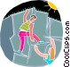 Rock climbing Vector Clipart illustration