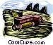 farm scene Vector Clipart illustration