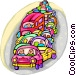 traffic congestion Vector Clipart illustration