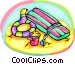 beach toys Vector Clipart graphic