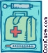doctor's kit, hypodermic needle Vector Clipart graphic