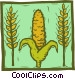 grain harvest Vector Clipart graphic
