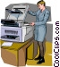 Office worker at the Vector Clipart illustration