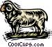 farm scene Vector Clip Art graphic
