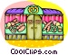 Bakery store front Vector Clipart graphic