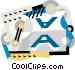 printing press Vector Clipart illustration