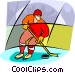 Olympic sports, hockey Vector Clip Art image