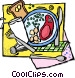 restaurant meal Vector Clipart image