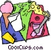 dairy products Vector Clipart image