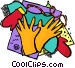 gloves and mittens Vector Clipart picture